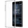 Nokia 6 gyári hybrid hátlap tok, átlátszó, CC-703