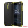 Nokia 6 ütésálló műanyag hátlap,Fekete/Citrom