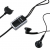 Nokia HS-23 fekete gyári sztereo headset