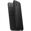 Nomad Folio Leather Case tok Apple iPhone XS Max - fekete