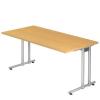 Nomeris irodai asztal, 160 x 80 x 72 cm, egyenes kivitel, bÜkk mintázat