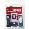 Novus tűzőkapocs D 11,3x1,2mm 18mm 600 db-os vágott csúcs