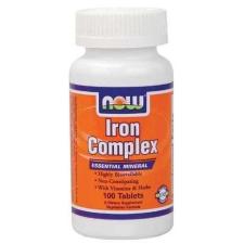 Now Foods Now Iron Complex tabletta 100db gyógyhatású készítmény