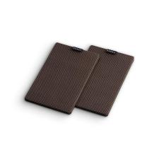 Numan Retrospective 1979 S polchangfal textil burkolat, 2 darab, fekete-barna hangfal