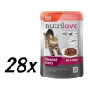 Nutrilove Cat pouch NMP, gravy beef Macskaeledel - 28 x 85g
