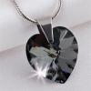 . Nyaklánc, Crystals from SWAROVSKI® kristályos szív alakú medállal, black diamond