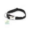 Nylon nyakörv 20 x 550 állítható nyakörv fém csattal fekete