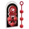 O Beads Giant - 3 golyós anál gyögysor (piros)