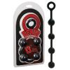 O Beads Giant - 4 golyós anál gyögysor (fekete)