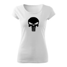 O&T női rövid ujjú trikó punisher, fehér 150g/m2