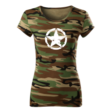O&T női rövid ujjú trikó star, álcázás 160g/m2