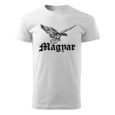 O&T rövid póló Magyar turul, fehér 160g/m2