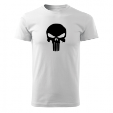 O&T rövid póló punisher, fehér 160g/m2