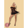 Obsessive Flores chemise & thong black S/M