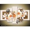 Odea.hu Orientális fehér orchidea vászonkép 170x100 5 részes