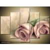 Odea.hu Pasztell rózsák vászonkép 150x105 5 részes