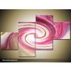Odea.hu Rózsaszín spirál vászonkép 100x60 4 részes