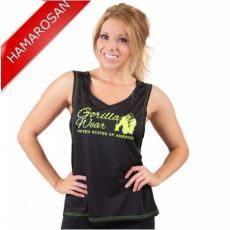 ODESSA CROSS BACK TANK TOP - BLACK/NEON LIME (BLACK/NEON LIME) [L]