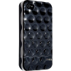 OEM Hard Candy Bubble Slider Case for iPhone 4 fekete