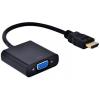 OEM HDMI VGA/D-Sub Átalakító Fekete 10cm