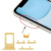 OEM Sim kártya tartó és oldalgomb garnitúra Iphone 11, sárga