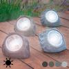 Oh My Home Mesterséges Napelemes Kő 4 LED, Szürke