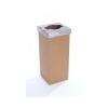 ÖKUKA Szelektív hulladékgyûjtõ, újrahasznosított, 60 l, RECOBIN Slim, szürke