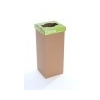 ÖKUKA Szelektív hulladékgyûjtõ, újrahasznosított, 60 l, RECOBIN Slim, zöld