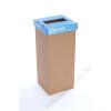 ÖKUKA Szelektív hulladékgyűjtő, újrahasznosított, angol felirat, 60 l, RECOBIN Slim, kék (URE017)