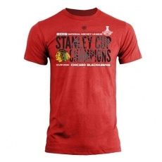 Old Time Hockey Chicago Blackhawks Póló 2015 Stanley Cup Champions Braun - L