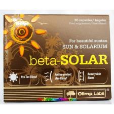 OLIMP LABS Beta-Solar 30 db kapszula, bőr-, nap-, szemvédelem vitaminokkal, napozáshoz és szoláriumozáshoz is, önbarnító - Olimp Labs táplálékkiegészítő