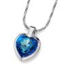 Oliver Weber Medál Swarovski kristályokkal Oliver Weber Heart Bermuda Blue 11616-BLU