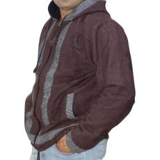 om mintás vastag férfi kabát nepálból választható XXL Barna