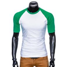 Ombre Póló S877 fehér-zöld