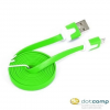 Omega USB - micro USB adatkábel zöld 1m /OUAMCG/