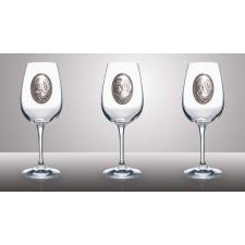 Óncímkés borospohár Horgász, Vadász (Horgász) pezsgős pohár