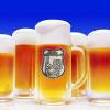 Óncímkés óriás sörös korsó Születésnapos (szőlős) (Sörös korsó díszdobozban)