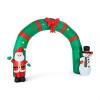 oneConcept Merry-Welcome önfelfújó karácsonyi kapu, 250 cm, LED