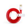 OnePlus OnePlus gyári micro USB adat- és töltőkábel 1 m-es lapos vezetékkel - piros/fehér (ECO csomagolás)