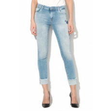 Only , Carmen Skinny Fit hímzett farmernadrág, Világoskék, W26-L30 (15152137-LIGHT-BLUE-DENIM-W26-L30)