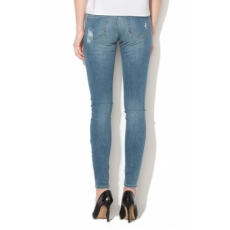 Only , Carmen skinny fit szaggatott farmernadrág, Világoskék, W28-L32 (15153068-MEDIUM-BLUE-DENIM-W28-L32)