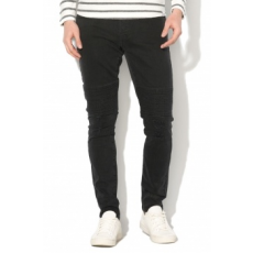 Only & sons , SPUN Slim Fit motoros farmernadrág, Fekete, W31-L32 (22009069-BLACK-DENIM-W31-L32)