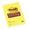 Öntapadó jegyzettömb, 102x152 mm, 75 lap, vonalas, 3M POSTIT Super Sticky, sárga