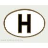Öntapadó papír matrica, ovális H betűs belső 18x12 cm