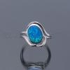 Opál gyűrű 3 íves