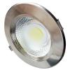 Optonica LED panel , mélysugárzó , 30 W , süllyesztett , kerek , természetes fehér , inox keret