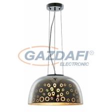 Optonica PD9018 3D üveg függesztett csillár,kör mintás,króm - 40W E27 400x200mm világítás