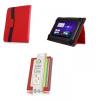 ORBI bőrtok, univerzális, Acer / Modecom / Overmax, 10 coll, tablet mappa tok, piros