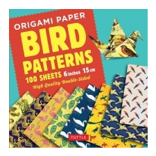 Origami Paper - Bird Patterns - 6 inch (15 cm) - 100 sheets – Tuttle Publishing idegen nyelvű könyv