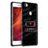 OTT! MOBILE OTT! SHOCKPROOF szilikon védõ tok / hátlap - FEKETE - AKKUMULÁTOR MINTÁS - ERÕS VÉDELEM! - Xiaomi Redmi Note 5A Prime / Xiaomi Redmi Y1